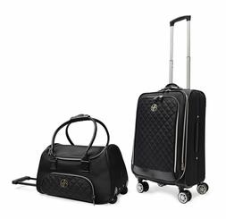 Adrienne Vittadini Quilted Nylon Collection 2 Piece Luggage