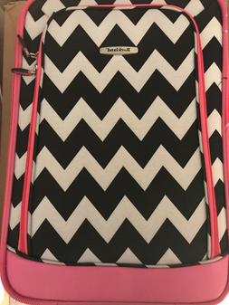Rockland Rio Expandable 2-Pc Carry On Luggage Set Pink Chevr