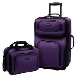 Carry-on Rio Purple Rolling Lightweight Expandable Suitcase
