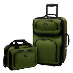 U.S. Traveler RIO 2-Piece Expandable Carry-On Luggage Set, G