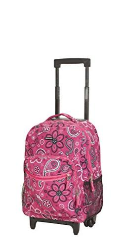 Rockland Luggage 17 in. Rolling Backpack - Bandana