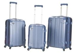 Rockland 3 PC SONIC ABS UPRIGHT SET F190-BLUE Luggage Set