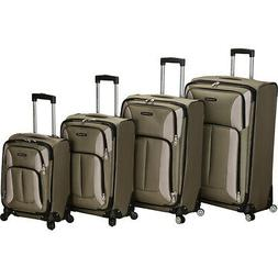 Rockland Luggage 4 Piece Impact Spinner Luggage Set