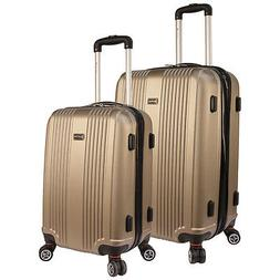 santa barbara 2 piece expandable luggage set