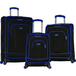 Olympia USA Santa Fe II 3 Piece Expandable Spinner Luggage S