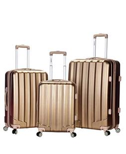 Rockland Santa Fe Metallic 3-Piece Hardside Spinner Upright