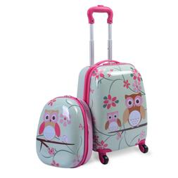 School Luggage Set for Kids 2 Piece 12 & 16 Inch Pink Travel