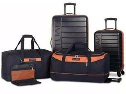 Nautica SEA TIDE 5 PIECE HARDSIDE SPINNER LUGGAGE SET NAVY
