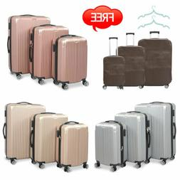 Set of 3 Luggage Set Travel Bag Trolley ABS Rolling Hard Cas