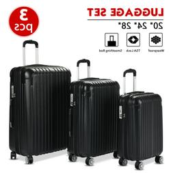 Set of 3  Luggage Set Travel Bag Expandable ABS Spinner Suit