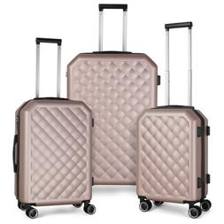 3 Piece Sets HardShell  PC+ABS Spinner Suitcase 20 inch 24 i