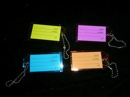 Set of 4 Different Colored Luggage Tags NWOT