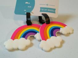 SET OF TWO Myxx Colorful Bright Neon Plastic Rainbow Cloud L