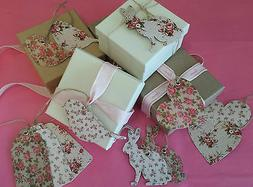 Sets of 15 Vintage Chic Floral Gift Tags Tag Heart Rabbit Bi