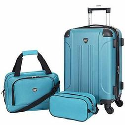 Sky+ Hardside Expandable Luggage Set with Spinner Wheels, Te