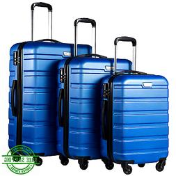 Spinner Luggage Set Hard Shell 3 Piece Suitcases Lightweight