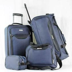 TAG SPRINGFIELD III 4 PIECE NAVY BLUE LIGHTWEIGHT WHEELED LU