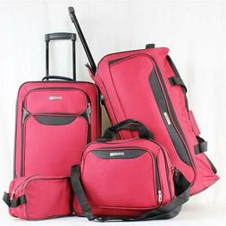 TAG SPRINGFIELD III 4 PIECE RED LIGHTWEIGHT WHEELED LUGGAGE