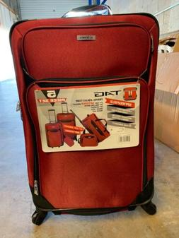 TAG SPRINGFIELD III 5 PIECE RED LIGHTWEIGHT SPINNER LUGGAGE