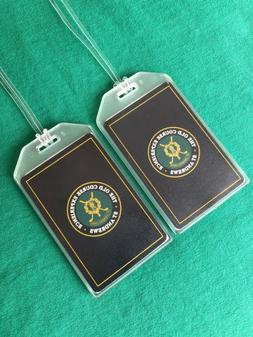 ST. ANDREWS LINKS OLD COURSE LUGGAGE TAGS SET of TWO - VINTA