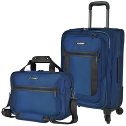 St Augustine Carry-on Nylon Expandable Spinner Lightweight L