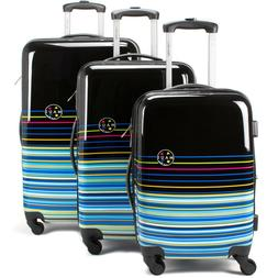 Maui and Sons Stripes 3 Piece Expandable Hardside Spinner Lu