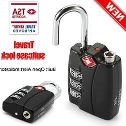 Suitcase Locks TSA-Accepted Nickel Set-Your-Own Combination