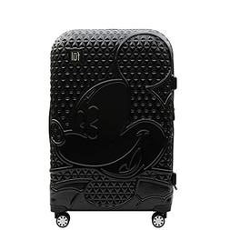 Textured Mickey 21in Hard Sided Rolling Luggage, Black