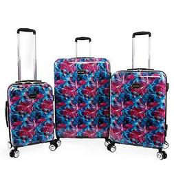 BEBE Tina 3 Piece Hardside Spinner Luggage Set - Blue