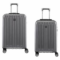 """DELSEY Paris Titanium Carry On and 25"""" Checked Spinner Rolli"""