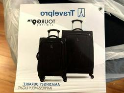 "Travelpro TourGo 20"" and 25"" Softside Spinner Luggage Set Bl"