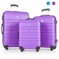 Travel 3 Piece Hardside Rolling Luggage Sets with Spinner Wh