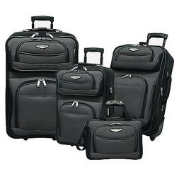 Traveler Choice Amsterdam Gray 4-Piece Expandable Wheel Lugg