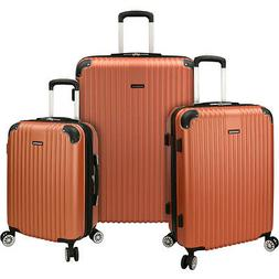 Traveler's Choice Charvi 3 Piece Expandable Spinner Luggage
