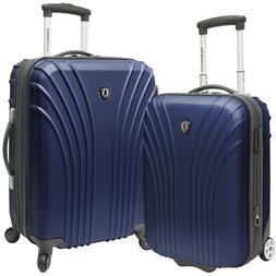 Travelers Choice Cape Verde Navy 2-Piece Carry-on Expandable
