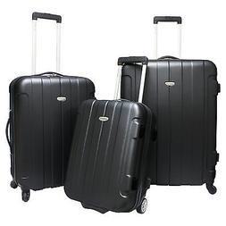 Travelers Choice Rome 3-Piece Hardshell Spinner Rolling Lugg