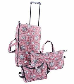 Trendy Duffel Bag, Tote and Toiletry Bag Luggage Set - Medal