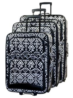 tribal aztec expandable 3 pc piece luggage