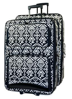 Tribal Expandable 3 pc Piece Luggage Set for Travel Soft Sid
