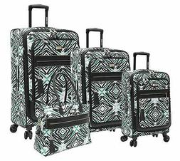 NEW Steve Madden Tribal Luggage 4 Piece Expandable Suitcase
