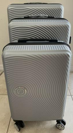 Trolley Case 3-Piece Gray Hardside Lightweight Spinner Lugga