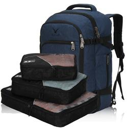 TSA Approved 40L Blue Carry-on Backpack with 3pcs Set Packin