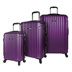 U.S. Traveler Akron 3 Piece Purple