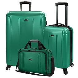 U.S Traveler Hytop Spinner 3-Piece Luggage Set - Green