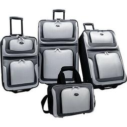 U.S. Traveler New Yorker 4-Piece Luggage Set 4 Colors