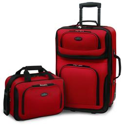 U.S. Traveler – RIO 2-Piece Expandable Carry-On Luggage Se