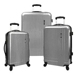 U.S. Traveler Silver 3-Piece Lightweight Expandable Spinner