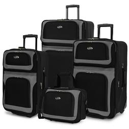 "New Yorker 4-Piece Rolling Luggage Set 21"" 25"" 29"" carry on"