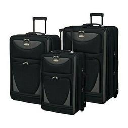Travelers Club Unisex  3 Piece Expandable Sky-View Luggage S