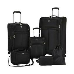 Travelers Club Unisex  Hartford 6-Piece Soft Side Luggage Se